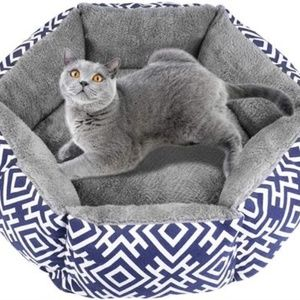 "CAT/DOG Plush Padded Chevron Print Pet Bed 18"""